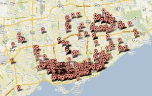 2011 Graffiti Map of Toronto